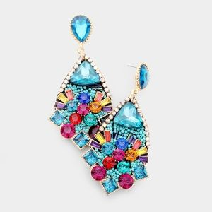 Glass Crystal Colorful Bead Earrings